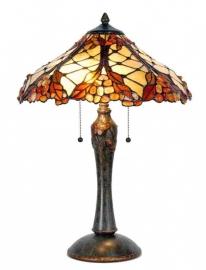 5384 Tafellamp Tiffany met Stenen H60cm Ø42cm Desert Stone