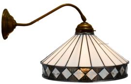 5198 410 Wandlamp met Tiffany kap Ø30cm Fargo