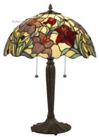 YT22 Tafellamp Tiffany H62cm Ø40cm Red Lilly