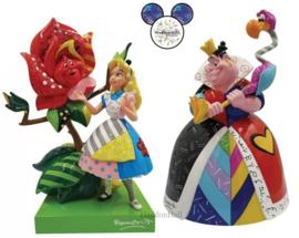 Alice & Queen of Hearts - Set van 2 beelden - Disney by Britto