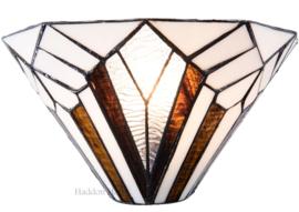 5898 Wandlamp Tiffany B30cm Schelpmodel Astoria Brown