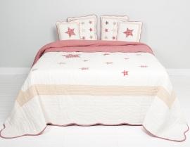 Q161 Clayre & Eef Bedsprei 140 x 220 cm Quilt Patchwork beddesprei