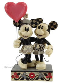 Mickey & Minnie with Love Balloon H19cm Jim Shore 6010106