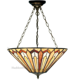 COT06 Hanglamp Tiffany Ø52cm Eldingar