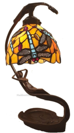 6096 Tafellamp Tiffany H42cm Lady with Flame Dragonfly