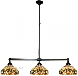 5776 Hanglamp B90cm met 3 Tiffany kappen Ø30cm Pendragon