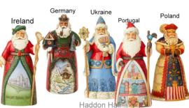 Set van 5 landen Santa's H18cm Jim Shore