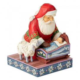 Santa with baby Jesus  H18,5cm Jim Shore 6004132