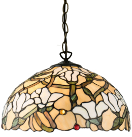 5923 Hanglamp Tiffany Ø40cm Magnolia
