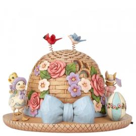 """""""Bonnet of Easter Blessings"""" H19cm Ø26cm With Light! - Jim Shore 4060111"""