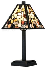 7901 Tafellamp Tiffany H36cm 21x21cm Falling Water