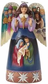 Lord At Thy Birth Kerst Engel H 25cm JIM SHORE 4041085 uit 2014
