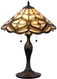 5884 Tafellamp Tiffany H55cm Ø40cm Lancaster