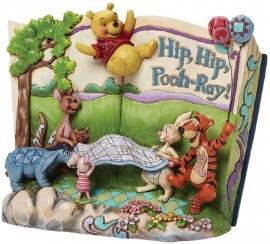 "WINNIE THE POOH ""Hip,Hip,Pooh-Ray!"" Storybook Jim Shore 4046053"