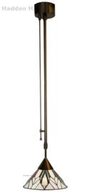 T026S Hanglamp Dimbaar H+/-110cm met Tiffany kap Ø30cm Astoria