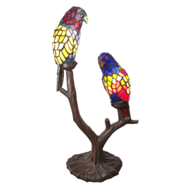 6017 Tiffany lamp 2 Papegaaien