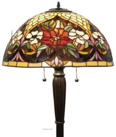 YT25 Vloerlamp Zwart H160cm met Tiffany kap Ø40cm Golden Gate