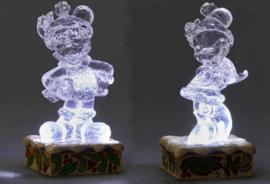 MICKEY & MINNIE Illuminated H12cm Set van 2 Jim Shore beelden