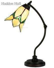 8104 Bureaulamp H50cm met Tiffany kap Ø16cm Lovely Flower