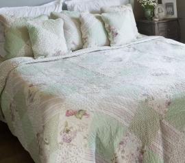 Q131 Clayre & Eef Bedsprei 140 x 220 cm Quilt Patchwork-style