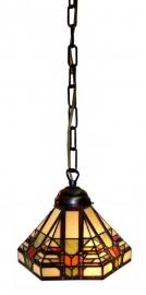 9021 353 Hanglamp Tiffany met ketting Ø26cm Midway