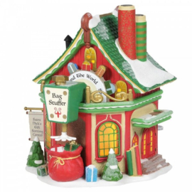 Saint Nick's Gift Sorting Center H16cm VIllage by D56 A30311