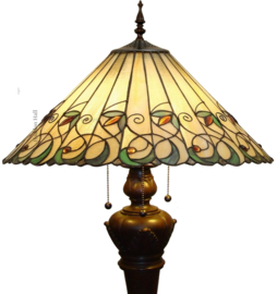 """T095L-9459 Vloerlamp Tiffany Ø50cm """"Jamelia"""" Bolling in de voet  5205"""
