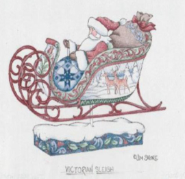 Victorian Santa in Sleigh H18cm - Jim Shore 6009493