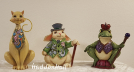 MIni Figurines - Set van 3 - Cat Rabbit & Frog - Jim Shore