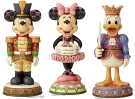 MICKEY , MINNIE & DONALD Nutcracker H18cm Set van 3 Jim Shore beelden