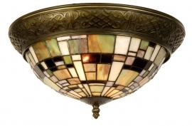 5348 Plafonniére Tiffany met ring Ø38cm Art Deco Green Plafondlamp