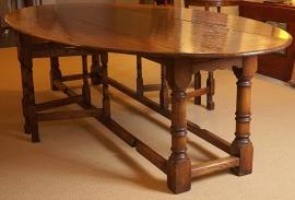 Supergrote Gateleg tafel 300cm inklapbaar  Massief Eikenhout Hangoortafel eettafel