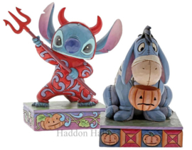 "Stitch & Eeyore ""Devilish Delight"" & Melancholy Mummy"" Jim Shore"