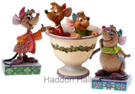Cinderella -Jaq & Gus and Jaq & Gus!! Set van 3 Jim Shore figurines