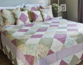 Q132 Clayre & Eef Bedsprei 180 x 260 cm Quilt Patchwork-style