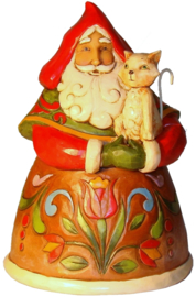 """Purrfect Christmas""  H12cm Jim Shore Pint Santa 4022911"