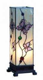 9301 Tiffany lamp H35cm Miniwindlicht Pink Butterfly