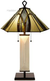 7856 Tafellamp Tiffany H80cm Ø50cm Round & Square