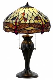 1101 Tafellamp Tiffany H58cm Ø40cm  Beige Dragonfly