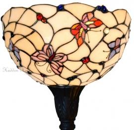 770 5372 Vloerlamp H175cm met Tiffany kap Ø30cm Pink Butterfly