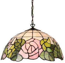 5912 Hanglamp Tiffany Ø40cm Bleikur