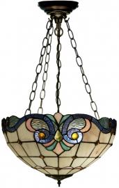 5807 SU3 Hanglamp Tiffany Ø40cm Lila Rose en Blauw