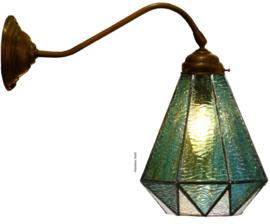8114 410 Wandlamp met Tiffany kap Ø16cm Arata Green