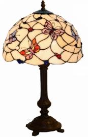 770 5794 Tafellamp Tiffany H48cm Ø30cm Pink Butterfly