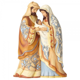 """""""Blessed Be This Holy Three"""" H20cm  Holy Family Jim Shore 4059923"""