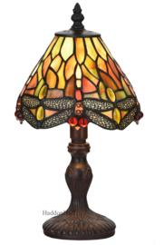 6159 Tafellamp Tiffany H32cm Ø18cm Flame Dragonfly
