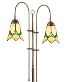 8104 Vloerlamp Verstelbaar met 2 Tiffany kappen Ø16cm Lovely Flower Yellow