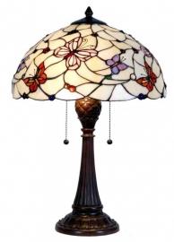 5365 Tafellamp Tiffany H60 Ø41cm Pink Butterfly