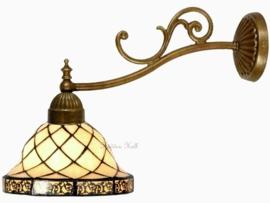 "1136 1142 Wandlamp met Tiffany kap Ø26cm ""Filigrees"""