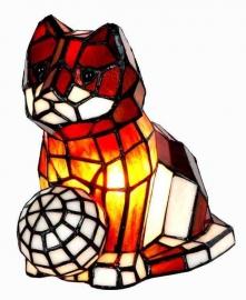 """Tiffany lamp """"Kat met bal""""  774"""